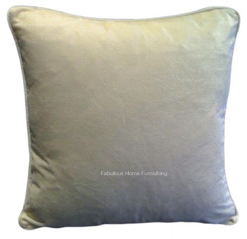 LARGE SIZE SOFT FEEL VELVET PLUSH STYLISH DESIGNER CUSHION COVER CREAM COLOUR